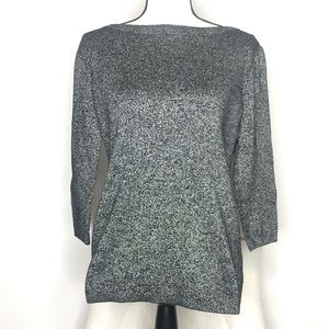 💥Liz Claiborne Black & Gold Sparkles Sweater Sz M